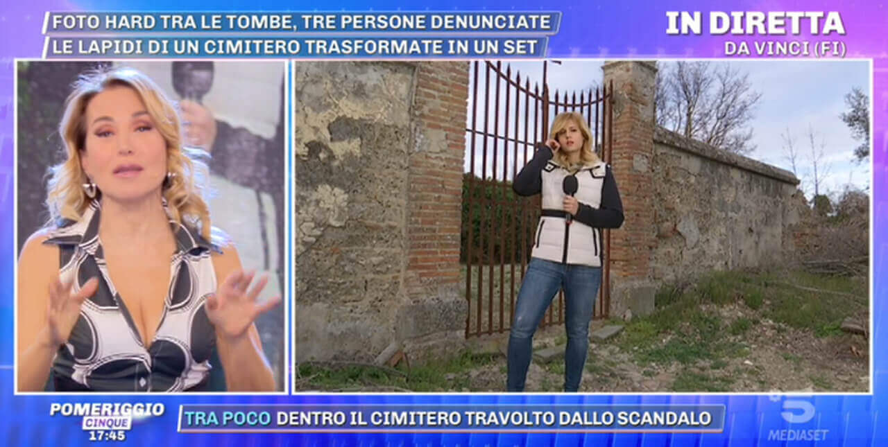 Foto hot al cimitero di Vinci, Firenze