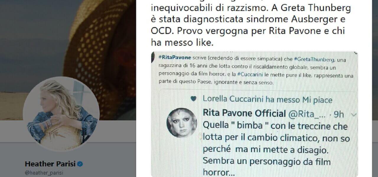 Heather Parisi contro la Cuccarini e la Pavone su Twitter