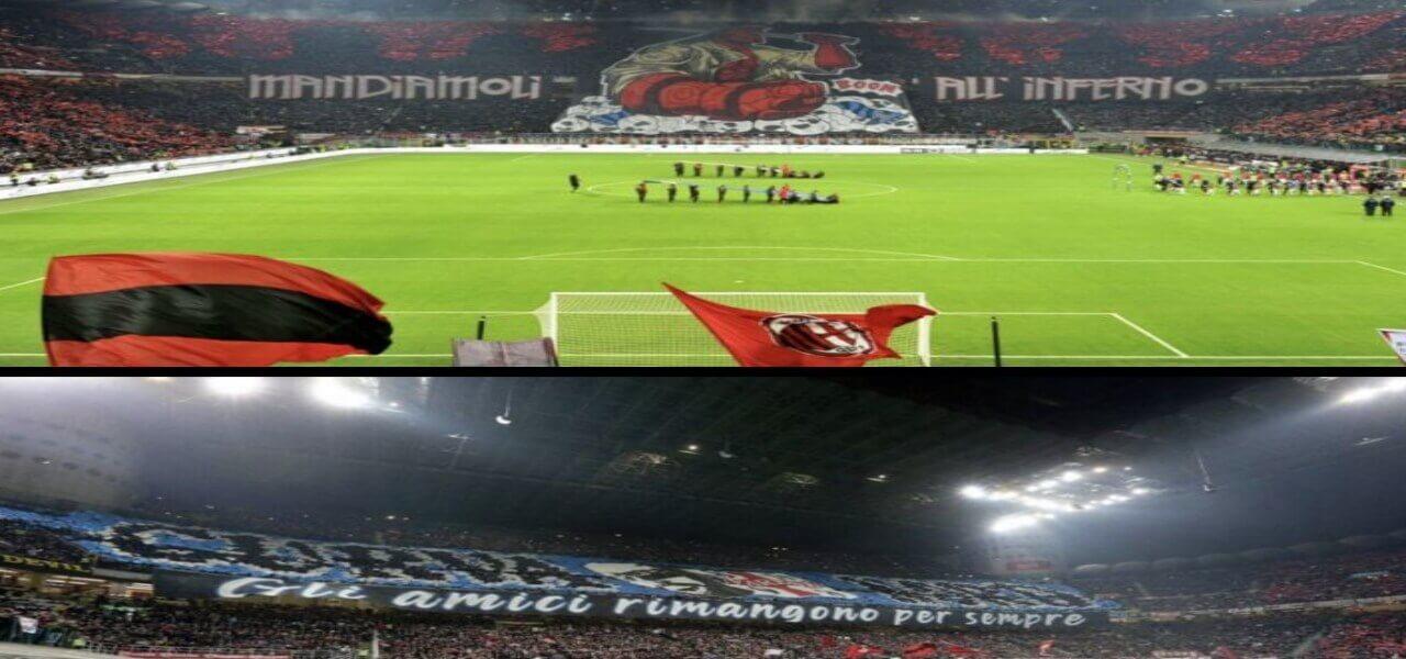 Milan Inter coreografie derby