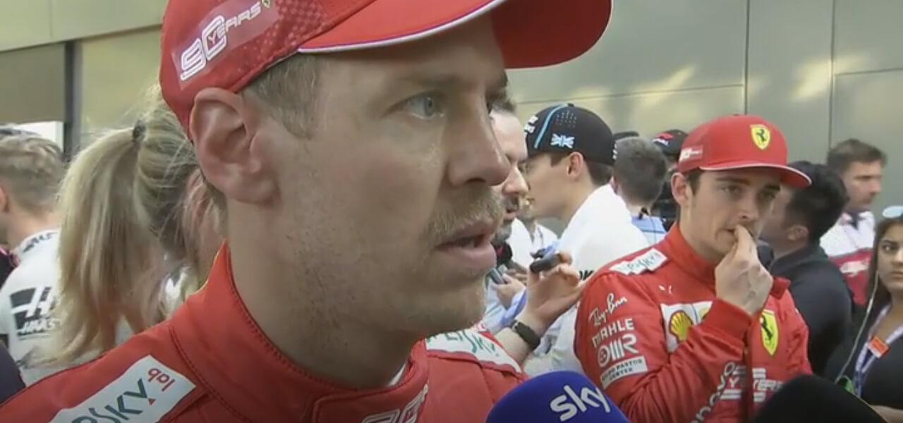 Sebastian Vettel male in Australia