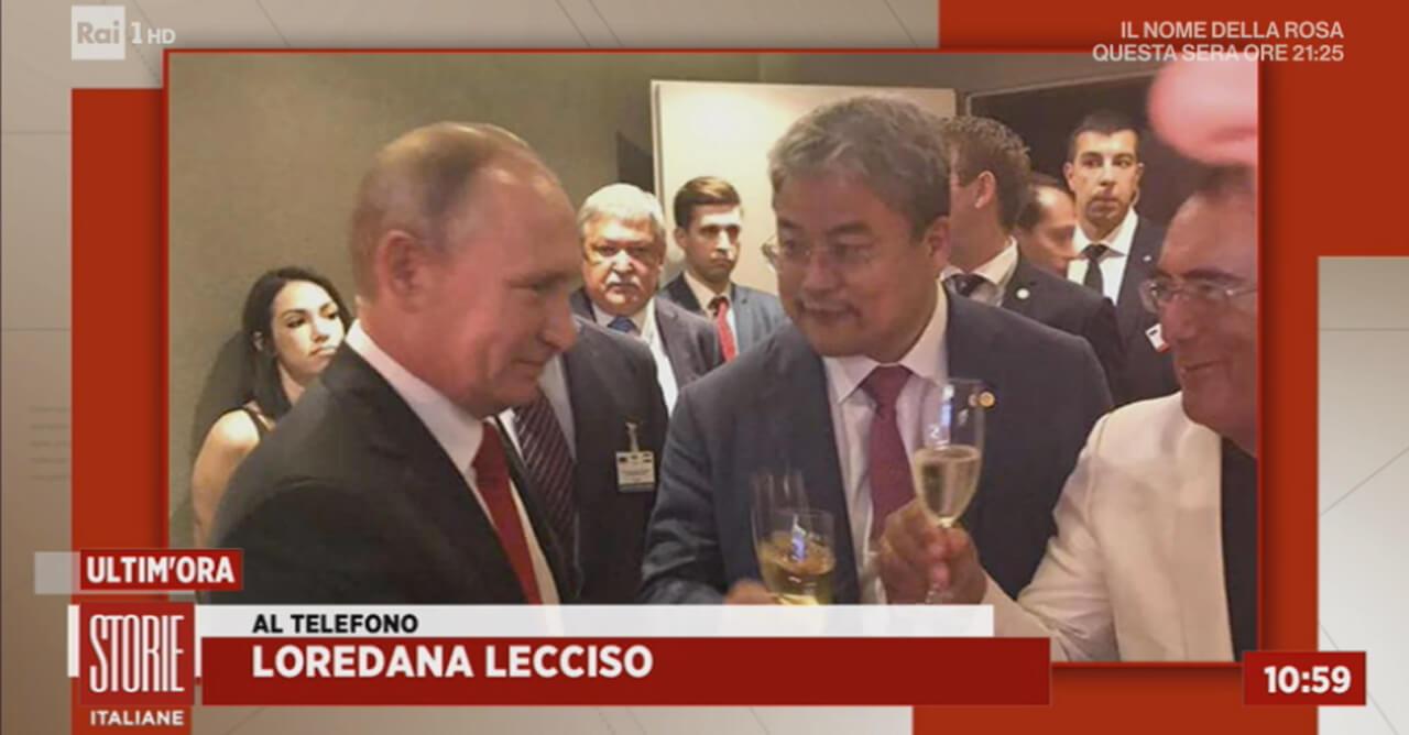 Al Bano e Putin, foto pubblicata dalla Rai
