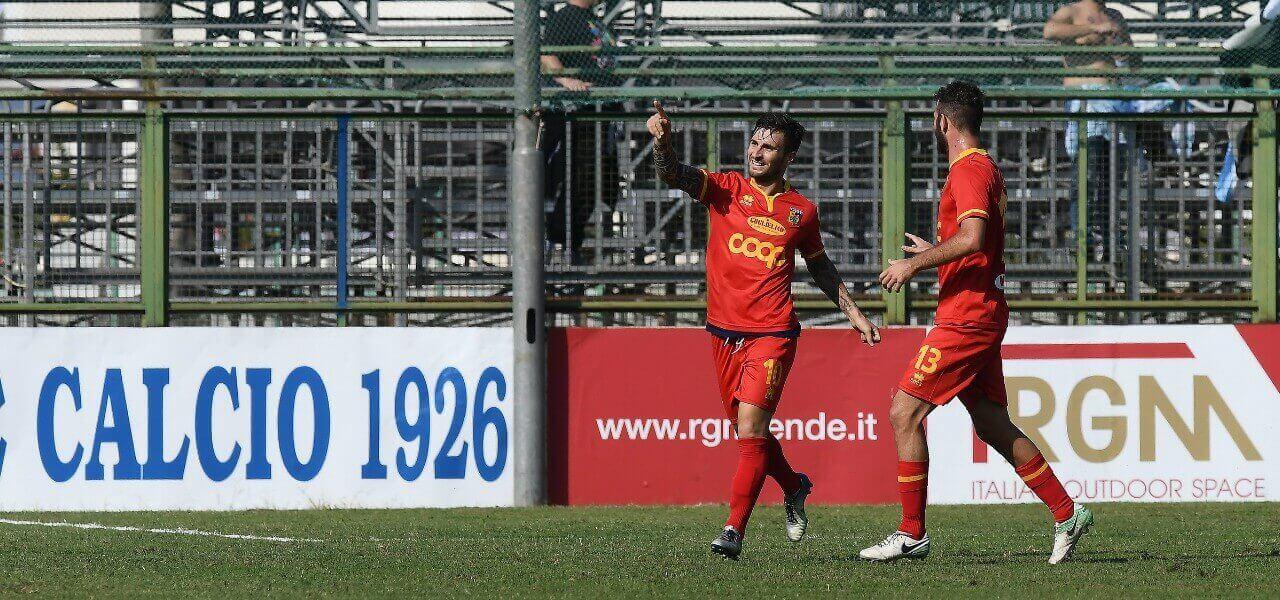 Giannone Favalli Catanzaro gol lapresse 2019