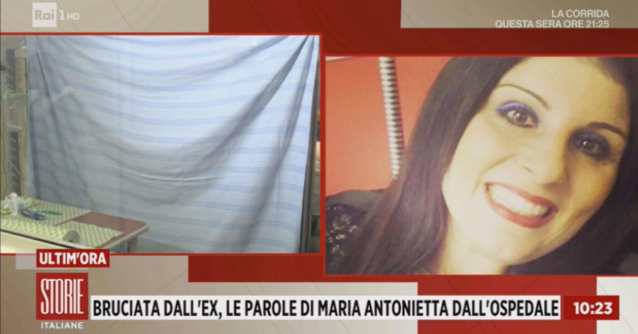 Maria Antonietta, bruciata dall'ex