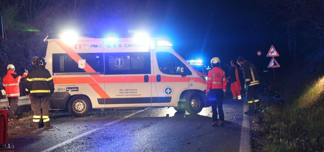 Ambulanza in incidente