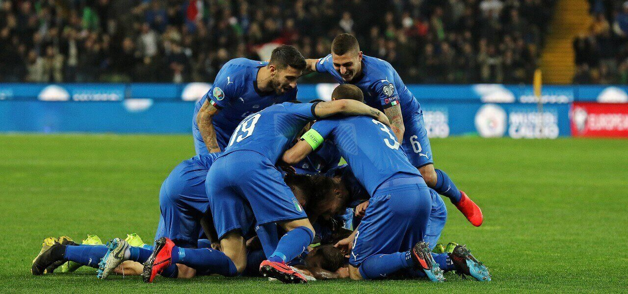 Italia Finlandia gol gruppo lapresse 2019