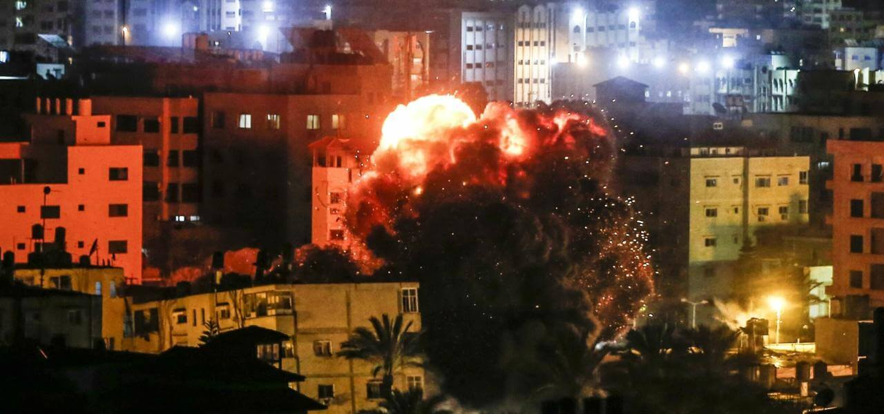 Missili su Gaza