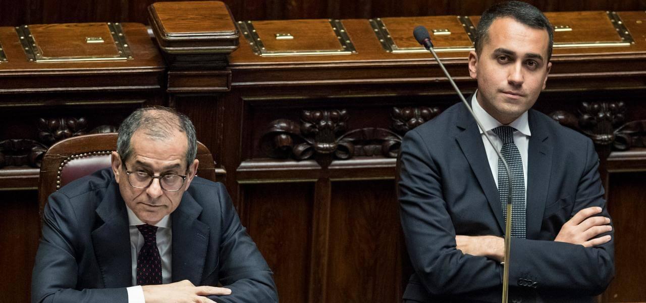 Tria e Di Maio in Parlamento