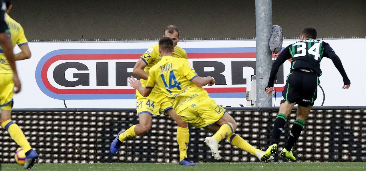 Di Francesco Bani Sassuolo Chievo lapresse 2019