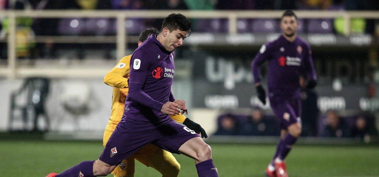 Simeone tiro Fiorentina Roma lapresse 2019