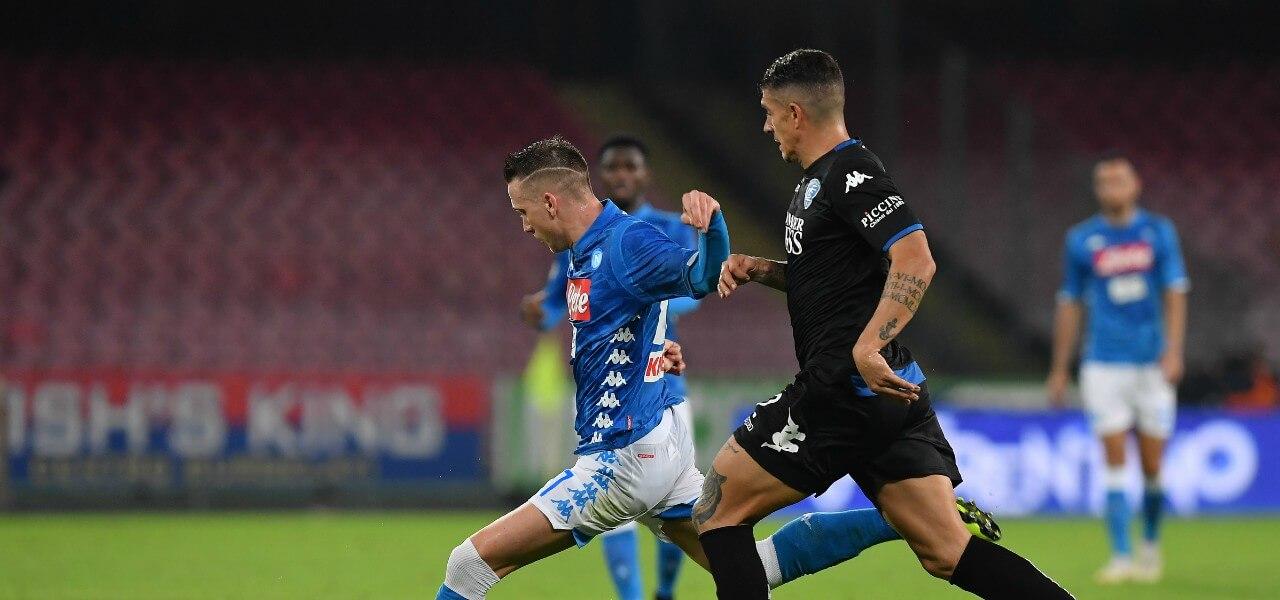 Zielinski Napoli Empoli tiro lapresse 2019