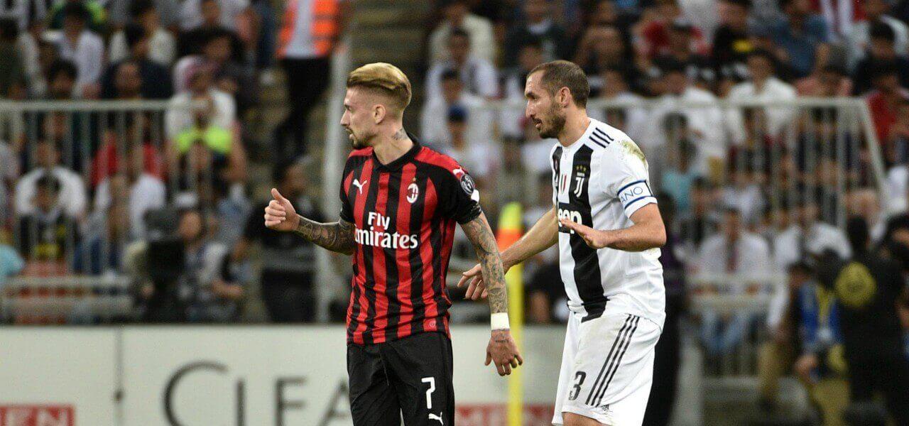 Chiellini Castillejo Juventus Milan lapresse 2019