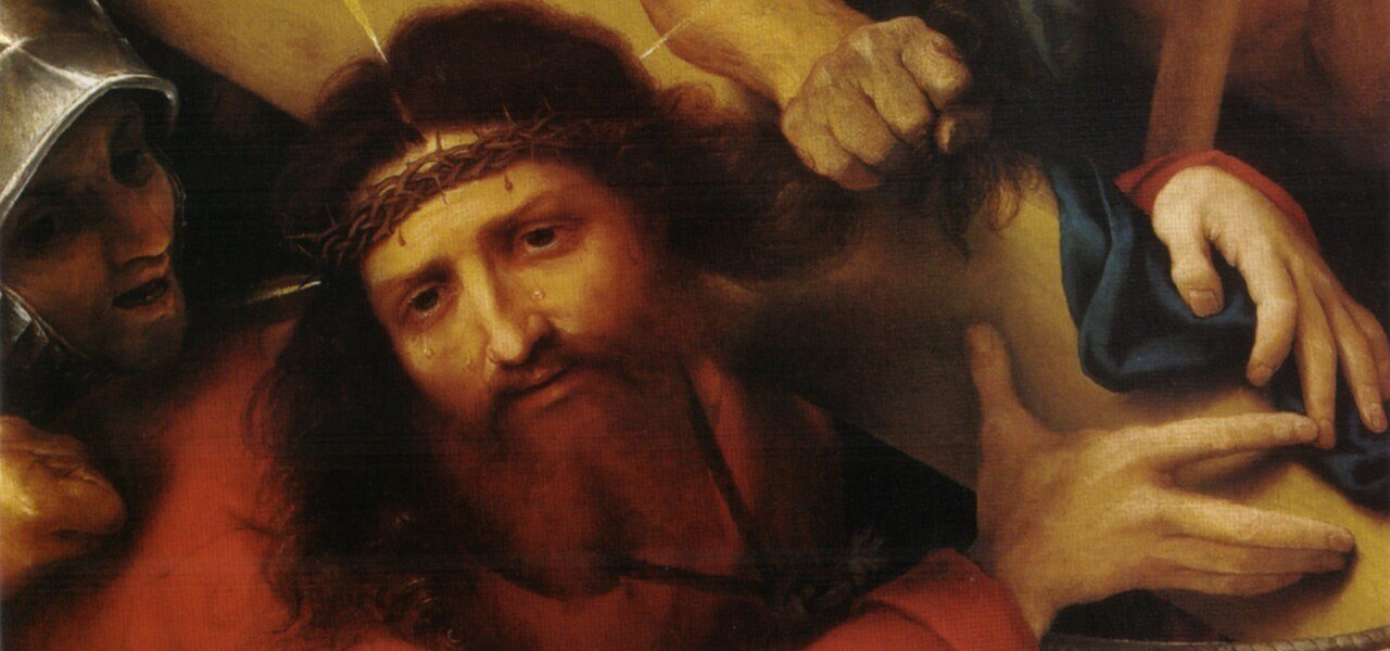 lorenzolotto cristo portacroce passione 1526arte1280