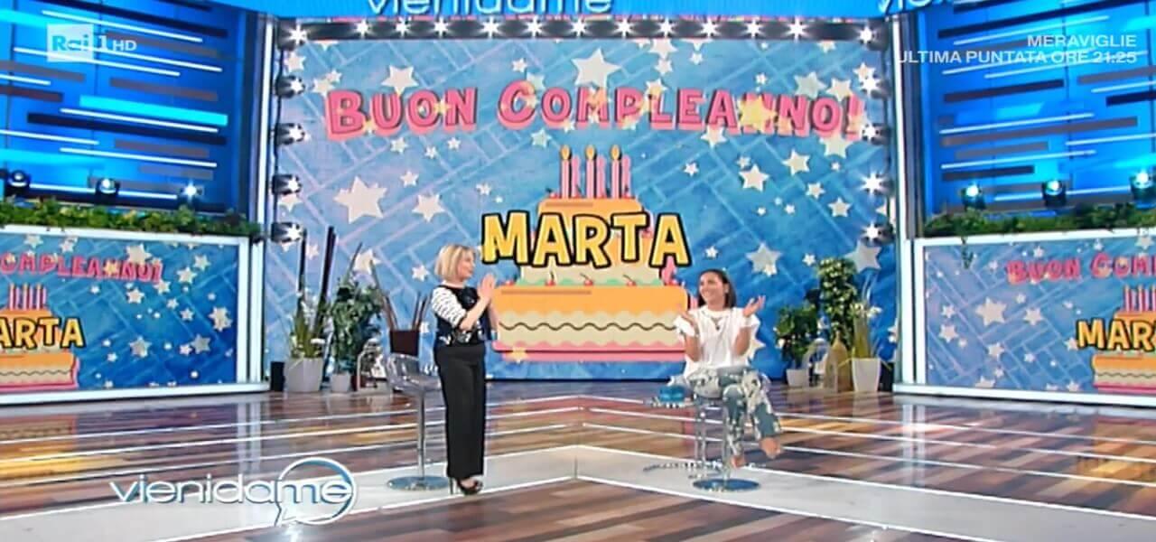 """MARTA FLAVI A VIENI DA ME/ Compleanno in diretta: """"mostrerò il ..."""