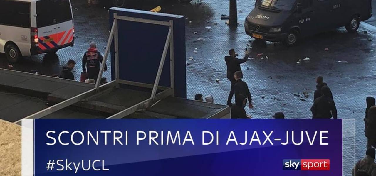 Scontri prima di Ajax-Juventus