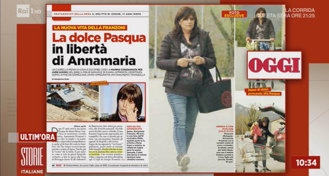 Annamaria Franzoni, Storie Italiane