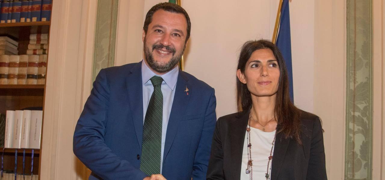Salvini e Raggi