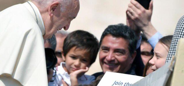 Papa incontra Greta in Vaticano