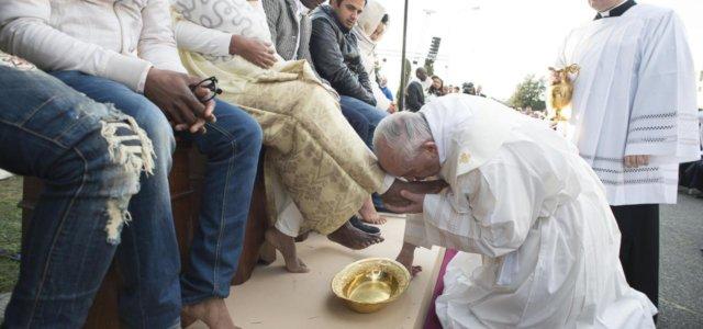 Papa Francesco e la Lavanda dei Piedi