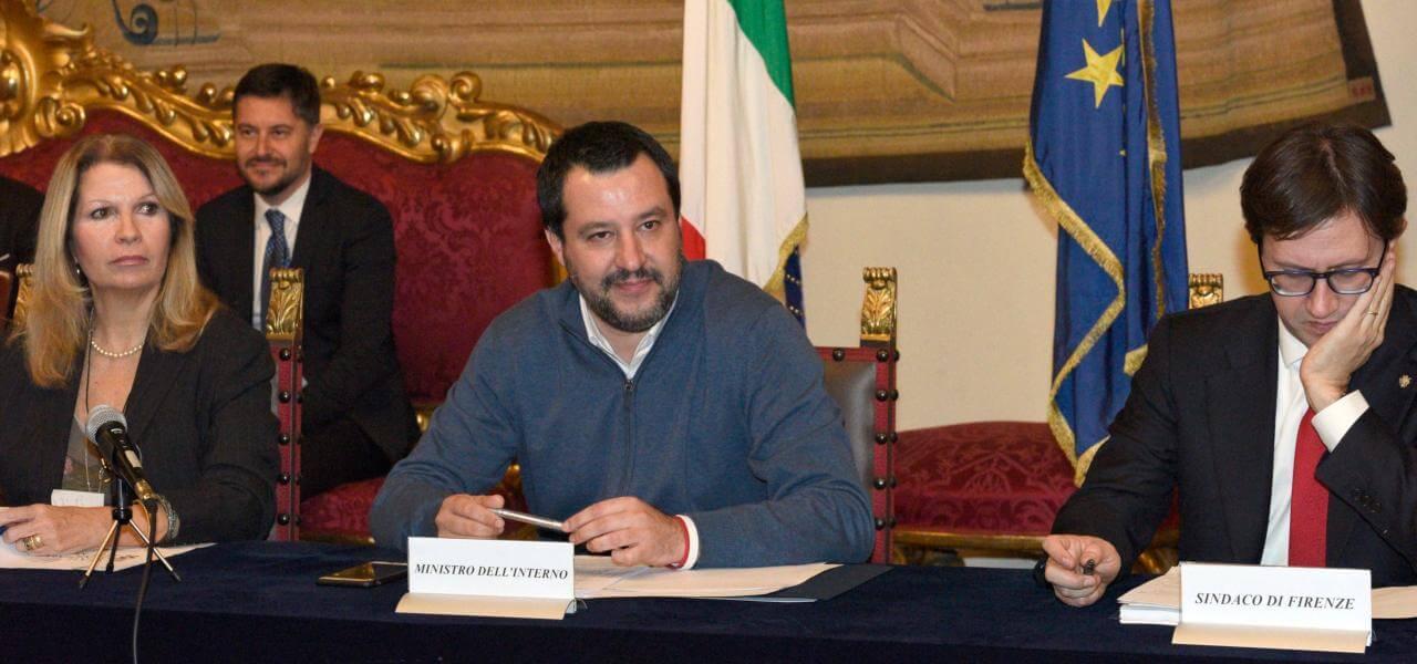 Salvini, Nardella e il prefetto di Firenze