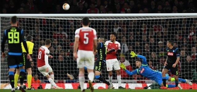 Ramsey tiro Arsenal Napoli lapresse 2019 640x300