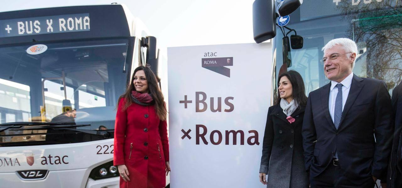 Atac, Raggi presenta i nuovi bus