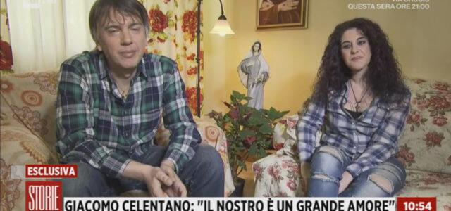 Celentano e Katia a Storie Italiane