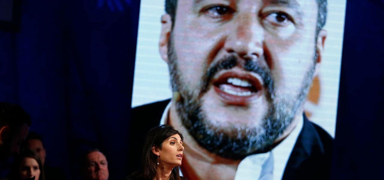 Virginia Raggi e Matteo Salvini