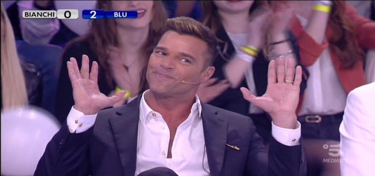 Ricky Martin ad Amici 18