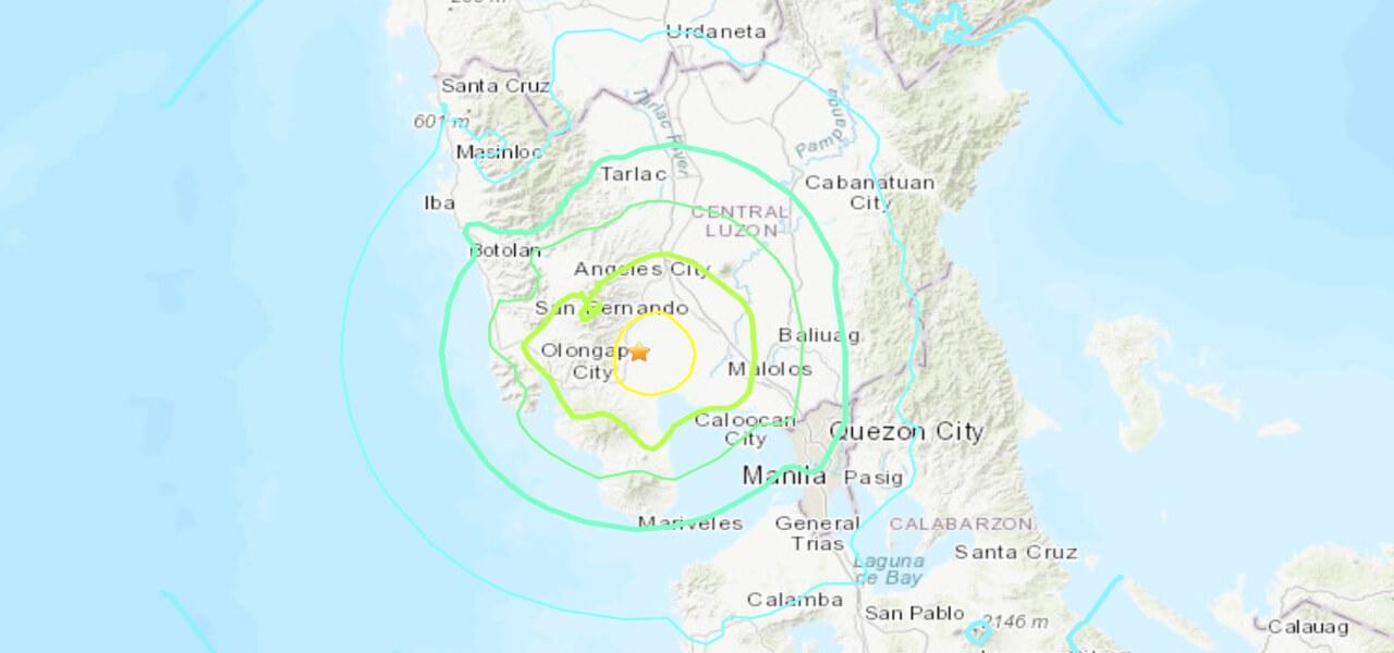 terremoto filippine aprile 2019