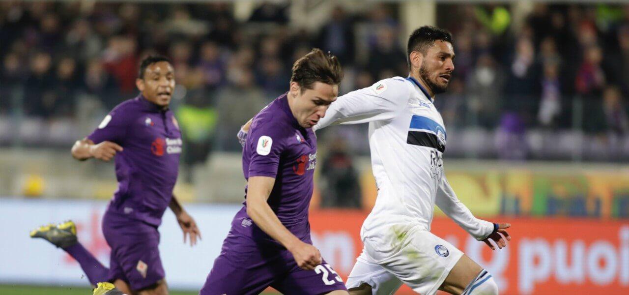 Chiesa Palomino Fiorentina Atalanta lapresse 2019