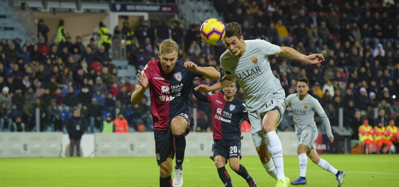 Schick Klavan testa Roma Cagliari lapresse 2019