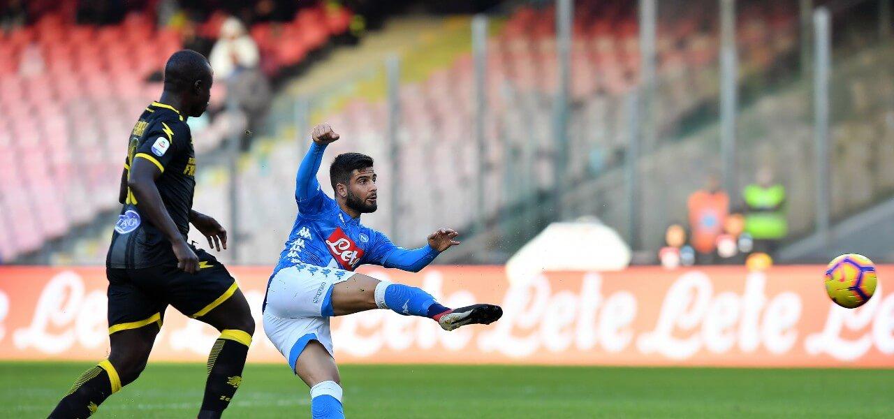 Insigne Chibsah Napoli Frosinone lapresse 2019