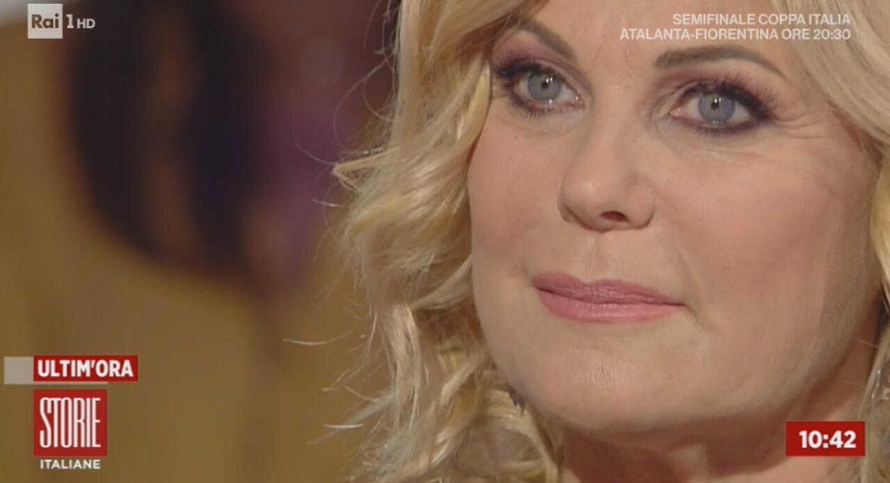 Patrizia Pellegrino a Storie Italiane