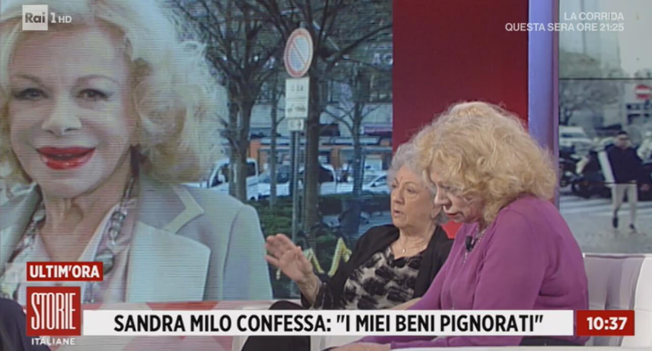 Sandra Milo, Leda Bertè a Storie Italiane