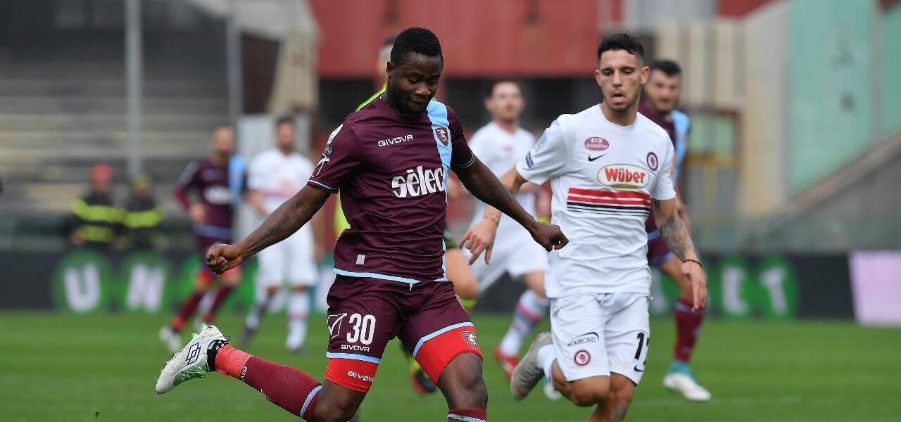 Jallow Kragl Salernitana Foggia lapresse 2019