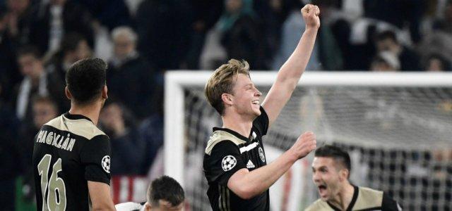 Magallan De Jong Ajax esultanza Juventus lapresse 2019 640x300