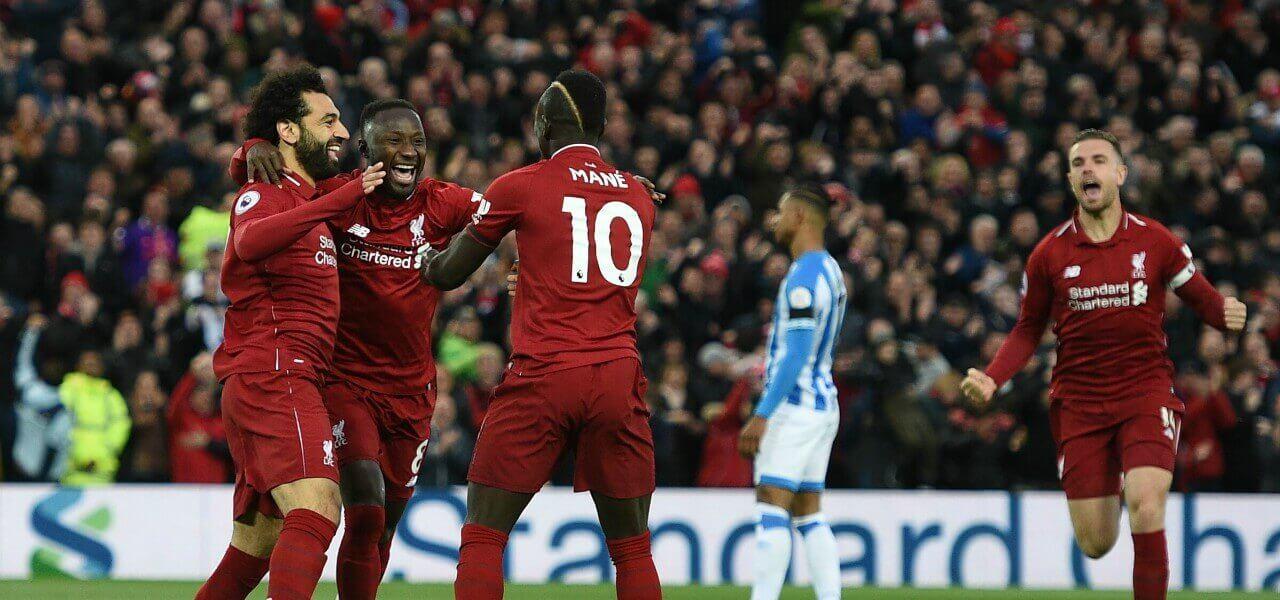 Salah Keita Mane Henderson Liverpool gol lapresse 2019