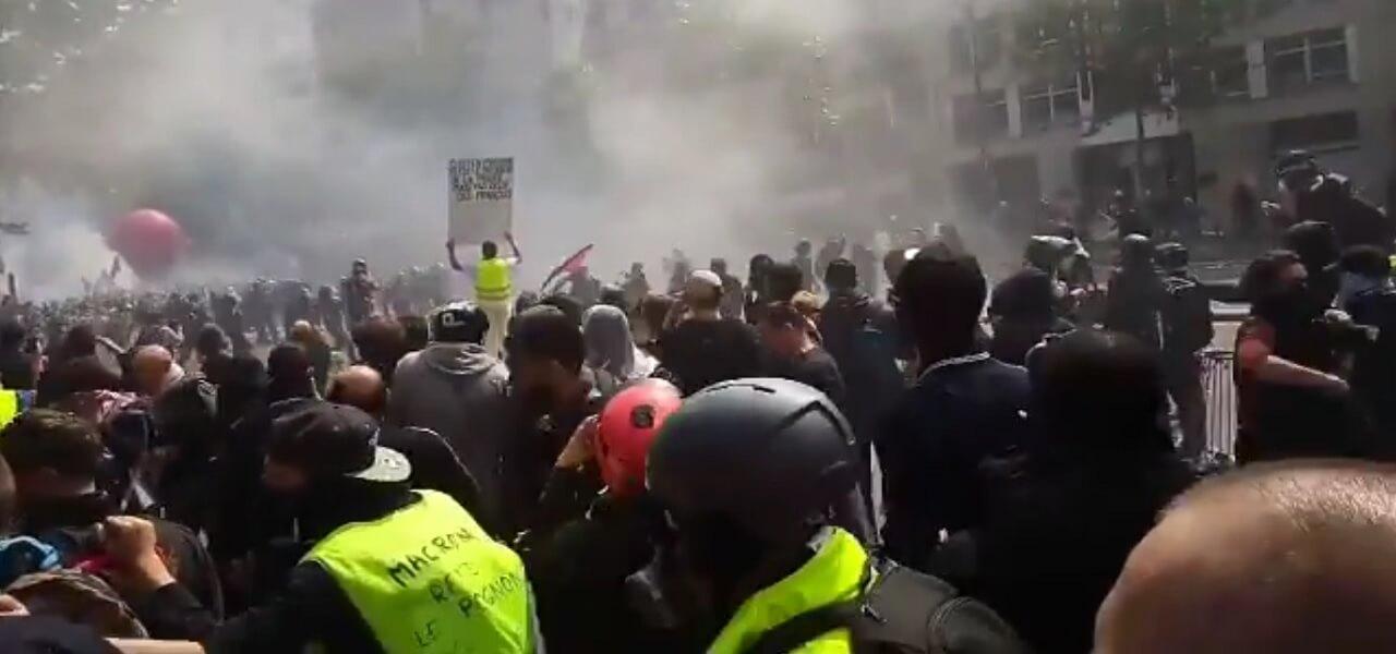 scontri parigi 1 maggio gilet gialli