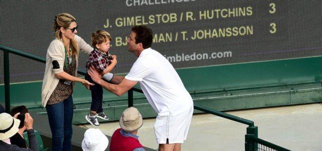 Justin Gimelstob moglie figlio Wimbledon lapresse 2019 640x300
