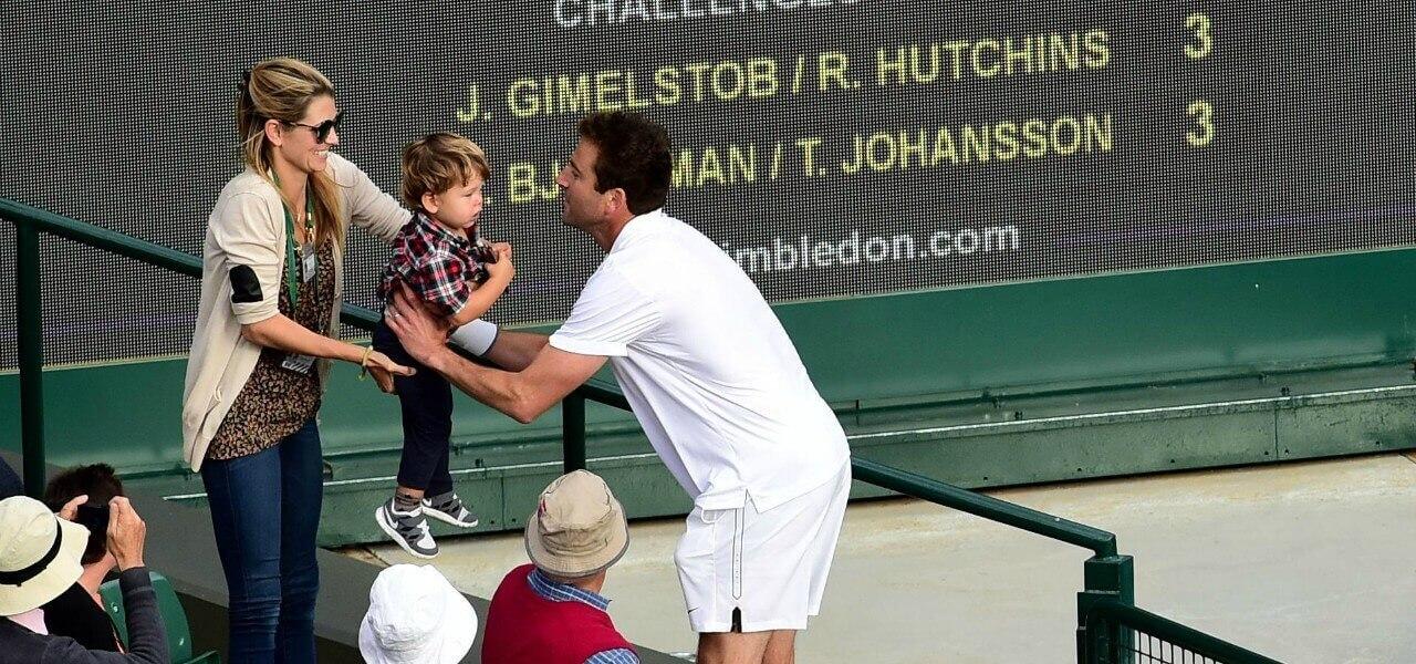 Justin Gimelstob moglie figlio Wimbledon lapresse 2019
