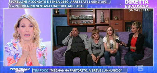 Sorelline picchiate dai genitori a Caserta