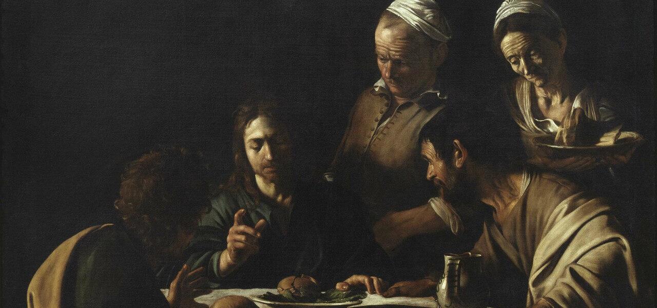 caravaggio cenaemmaus brera 1606arte1280