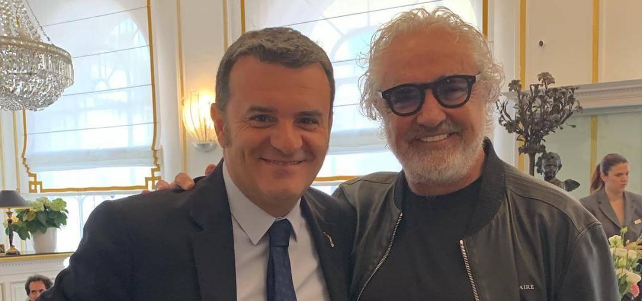 Flavio Briatore e Gianmarco Centinaio all'Assemblea di Federlaberghi