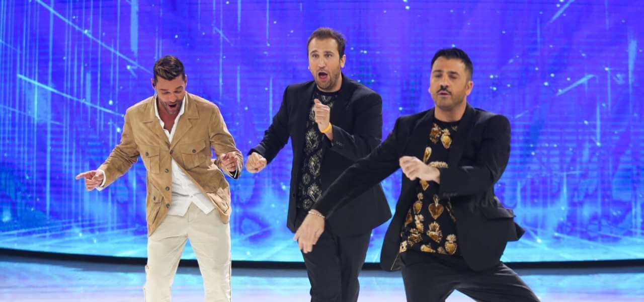 Ricky Martin con Pio e Amedeo