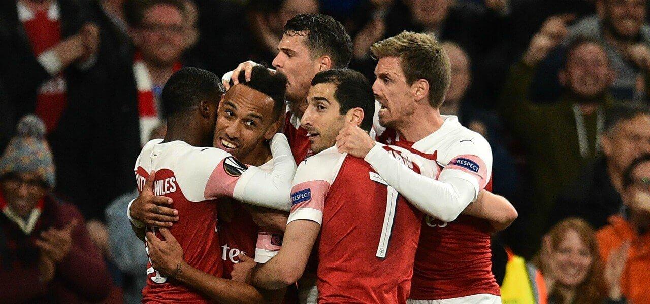 Arsenal gruppo esultanza Europa League lapresse 2019