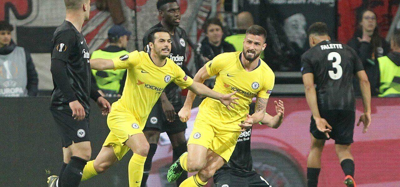 Pedro Giroud Chelsea gol Eintracht lapresse 2019