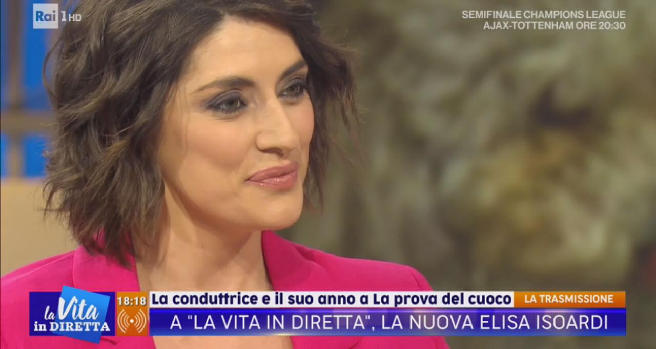 Elisa Isoardi a La Vita in Diretta