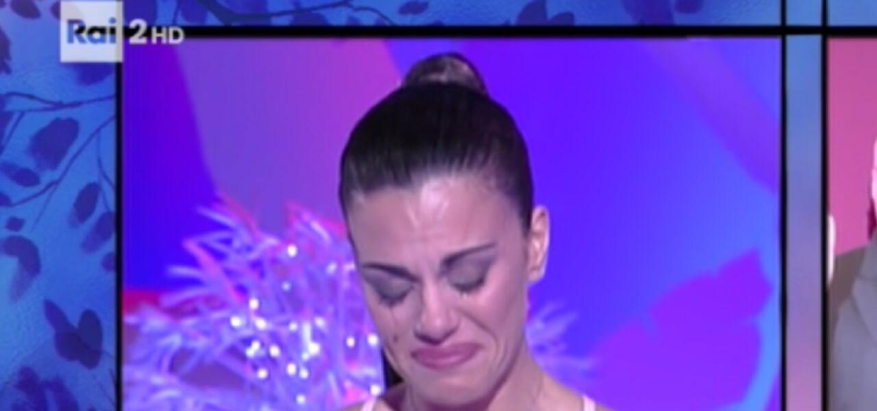 Bianca Guaccero in lacrime a Detto Fatto