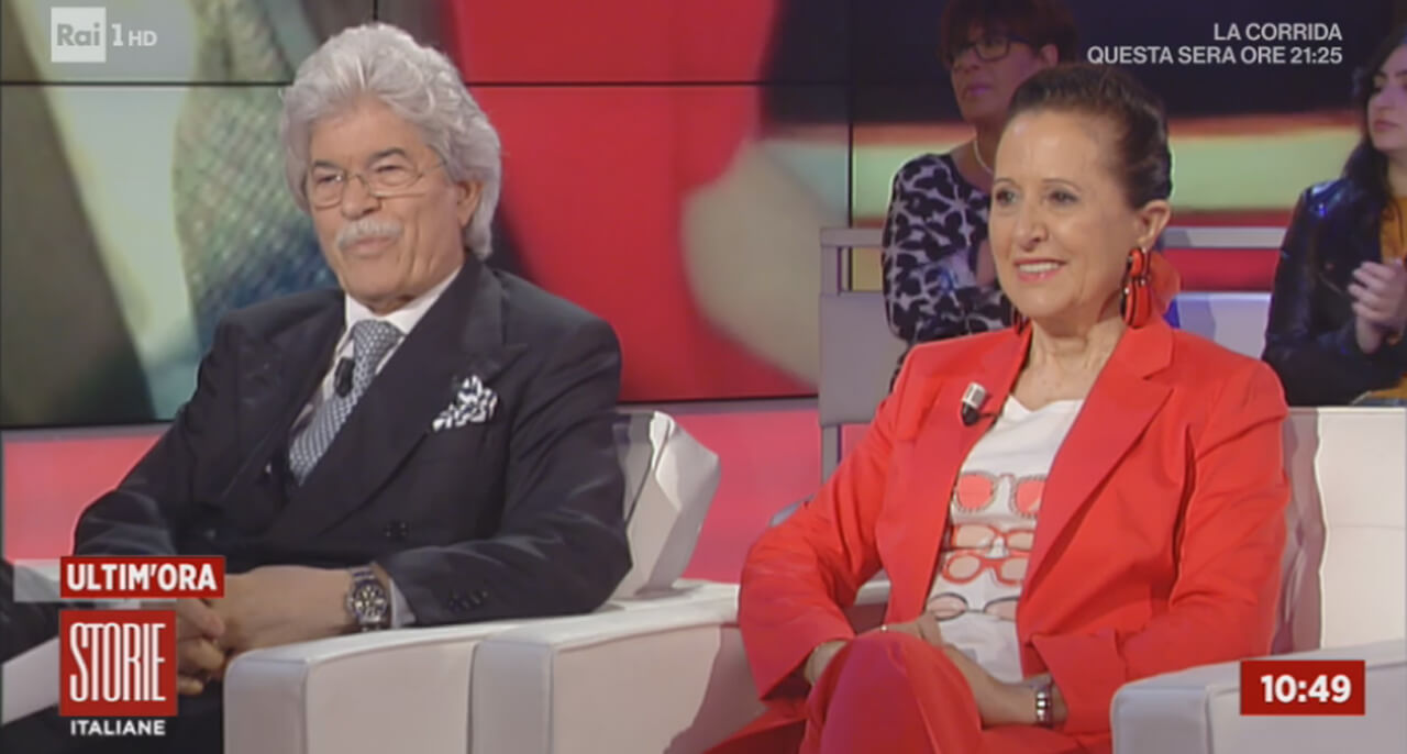 Antonio Razzi e moglie a Storie Italiane
