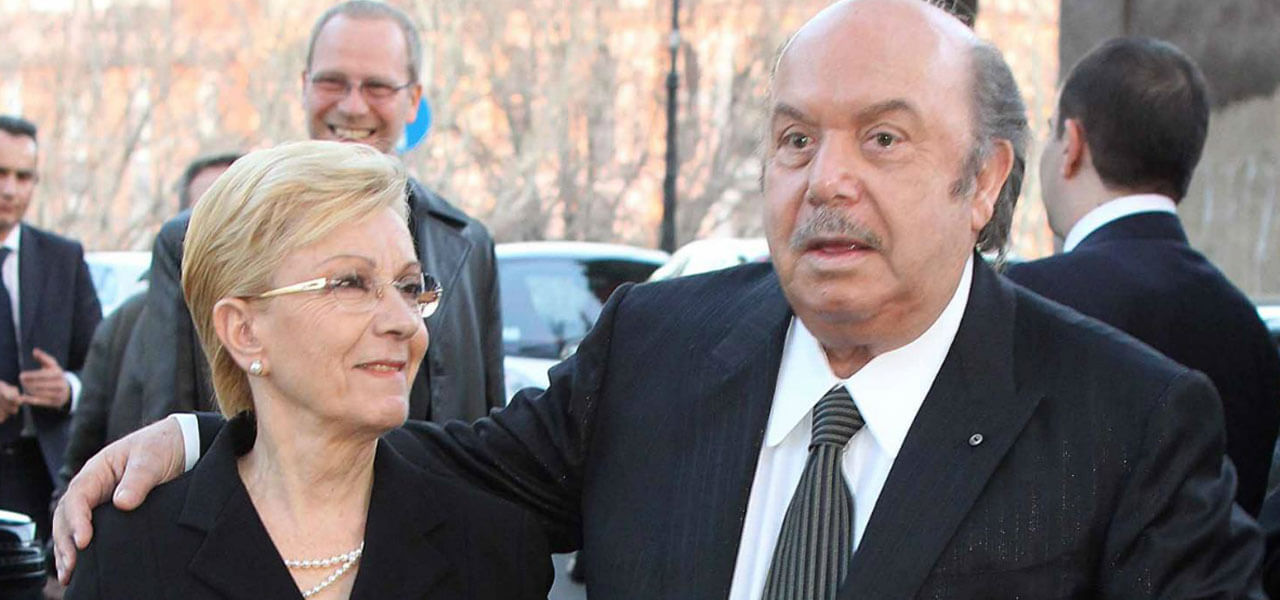 Lino Banfi con la moglie Lucia
